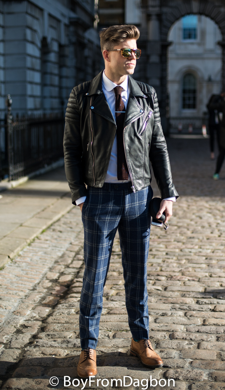 How to wear tartan with leather